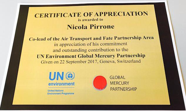 Award to Nicola Pirrone